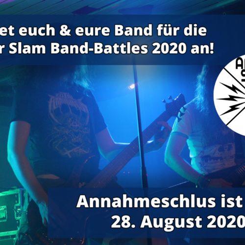 Jetzt bewerben! Amper Slam Band Battle 2020